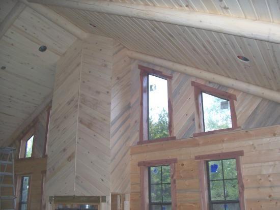 Log Home Interior Finish