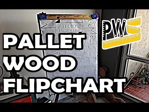 Pallet wood flipchart with 3d printed accesories